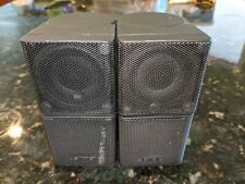 SET OF 2 BOSE JEWEL DOUBLE CUBE SPEAKERS BLACK - FREE PRIORITY SHIPPING