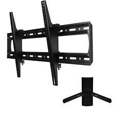 "Tilt LED LCD Plasma TV Wall Mount 60-85"" Flat Screen + Universal DVD Bracket BC1"