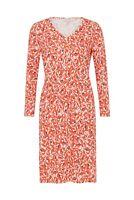 PEOPLE TREE Keeley Orange Floral Dress 100% Organic Cotton SIZE UK 8