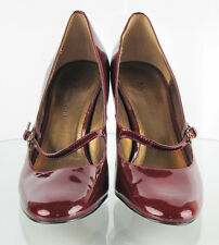 Dark Cherry Red Shoes - Women's Patent Leather Pumps Size 7M