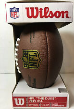 Wilson Nfl The Duke Replica Game Composite Football Leather Official Size