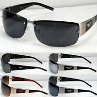 New Mens Womens Rectangular Eagle Fashion Rimless Sunglasses Shades Wrap Vintage