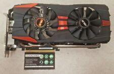 NVIDIA GTX 780 ASUS DirectCU II 3GB GDDR5 PCI-E GPU TESTED FREE SHIPPING