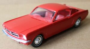 "Vintage 1965 Red Ford Mustang ""Fastback"" Promotional Model Car"