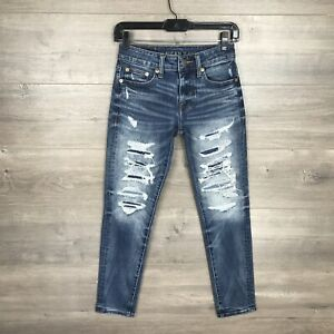 American Eagle Men's Size 26x28S Skinny Fit Jeans Next Level Stretch Ripped