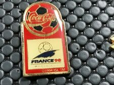 PINS PIN BADGE SPORT SOCCER FOOT WORLD CUP 98 FRANCE COCA COLA