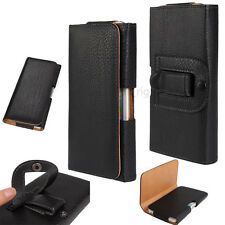 Premium Leather Belt Clip Carrying Holster Pouch w/ Magnetic Closure Case Cover