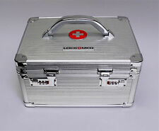 LOCKMED Large Medication Lock Box w/ Dual Combination Lock