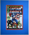 CAPTAIN AMERICA 100  Pin up Poster Frame Ready Marvel