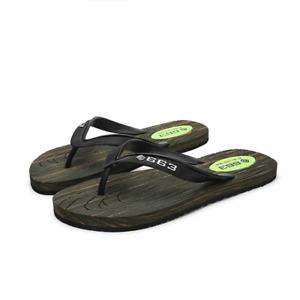 Summer Men Soft PVC Flat Flip Flops Indoor Outdoor Non-Slip Slipper Beach Shoes