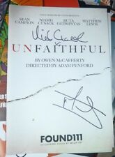 MATTHEW LEWIS AND NIAMH CUSACK UNFAITHFUL SIGNED THEATRE PROGRAMME BY 2 CAST