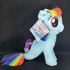 "My Little Pony The Movie Rainbow Dash Sea Pony Blue Plush 10"" New Damaged Tag"