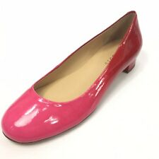 TALBOTS Women's Pink Red Kitten Heels Shoes 7' AA Narrow NEW