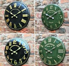 Outdoor indoor Green Garden Wall Clock Hand Painted church clock