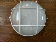 "Flush Mount White Industrial Steampunk Retro Industrial 7"" Light Fixture"