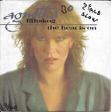 "45 TOURS / 7"" SINGLE--AGNETHA FALTSKOG (ABBA)--THE HEAT IS ON / MAN--1983"