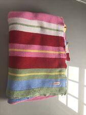 Cath Kidston Cotton Striped Blanket  Throw Preowned
