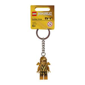 KEY CHAIN Lego Golden Ninja Lloyd NEW with Tags Genuine Lego 6031695 850622