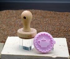 RBV Birkmann Stempel Plätzchen Keks Teekanne 5 cm aus Holz und Silikon