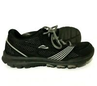 Mens Abeo Lite Running Shoes Sneakers Black Gray Size 8