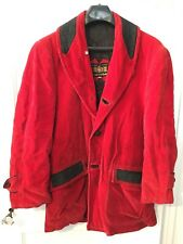 Vintage Cortefiel Red Corduroy Coat Jacket Size 38 Cosplay Costume Spain Spanish