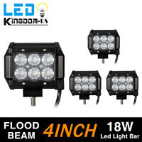 4x 4inch 18W Flood Led Work Light Fog Reverse Cube Pods Offroad SUV ATV UTE