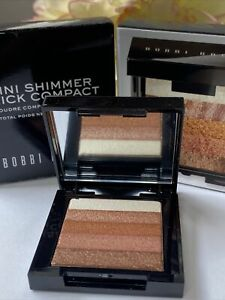 BOBBI BROWN Mini Shimmer Brick Compact BRONZE Travel Size .14 oz Highlighter NIB