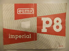Instructions cine projector EUMIG P8 Imperial - CD/Email