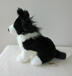 BORDER COLLIE DOG Plush - 'MATEY' - 25 cm high seated - Beautiful used condition