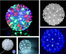 50 LED Light Snow Ball Sakura Light Xmas Hanging Lights Party Battery Blue White