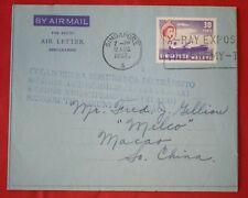 Mayfairstamps Singapore 1957 to Macao Xray Slogan Cancel Aerogramme wwf55331