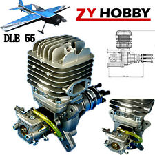 DLE55 55cc Gasoline Engine W/ Electronic Igniton &Muffler For RC Airplane