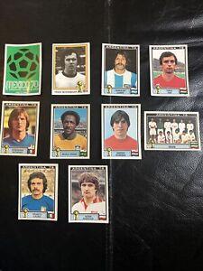 Panini - Argentina 78 World Cup - 10 Different Stickers Unused - Original Backs