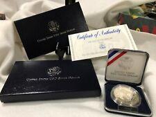 1991 S USO PROOF 90% $1 Silver Dollar Coin US Mint Box, Star Case, Slipcase &COA