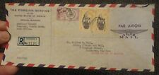 1961 Freetown Sierra Leone Registered American Embassy Foreign Service cover