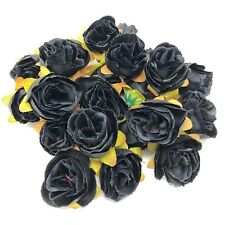 Black Rose Bud Decorative Synthetic Flowers (Faux Silk) - UK SELLER