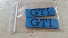 VW Golf 2 Seitenembleme Zierleisten GTI Tuning blau Fire Edition Emblem
