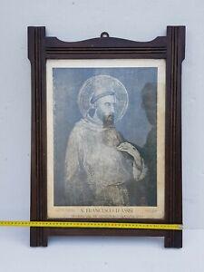 STAMPA SAN FRANCESCO D'ASSISI  VII CENTENARIO DA FOTO ALINARI  ANTICO