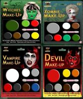 HALLOWEEN FACE PAINT MAKE UP DEVIL ZOMBIE WITCH VAMPIRE MAKEUP MULTI PALLETS