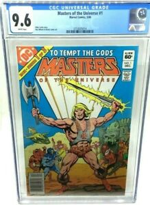5/1986 DC COMICS - MASTERS OF THE UNIVERSE 1 - 1 OF 3 - CGC 9.6 - WHITE PAGES