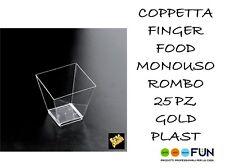 Coppetta Rombo trasp 25pz Trasp. Gold Plast 6001-21
