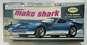 rare 1967 Aurora #677-100 MAKO SHARK Corvette model kit 1:32  incomplete