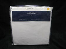 Sears Colormate Twin White 3 Piece Sheet Set Microfiber Easy Care