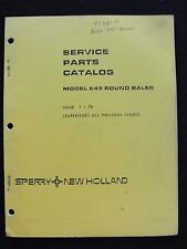 GENUINE 1978 NEW HOLLAND MODEL 845 ROUND BALER PARTS CATALOG MANUAL VERY GOOD