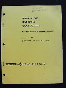 GENUINE 1978 NEW HOLLAND MODEL 845 ROUND BALER PARTS CATALOG MANUAL VERY GOOD