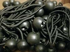 "100pc 6"" Ball Bungee Bungi Bungie Cord Tarp Tie Down Strap Canopy Black NEW GS"