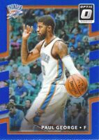 2017-18 Donruss Optic Blue #102 Paul George 18/49 Oklahoma City Thunder