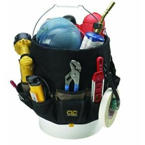 CLC 1119 Bucket Organizer 48 pockets, polyester, black and tan color