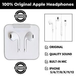 GENUINE APPLE HEADPHONES EARPHONES EARPODS IPHONE 5 6 7 8 PLUS X XR XS MAX 11 12