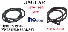 Front & Rear Windshield Window Seals Set For 1976-1992 Jaguar XJS XJ12 URO